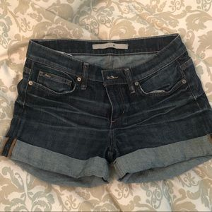 Joes jeans rolled denim shorts